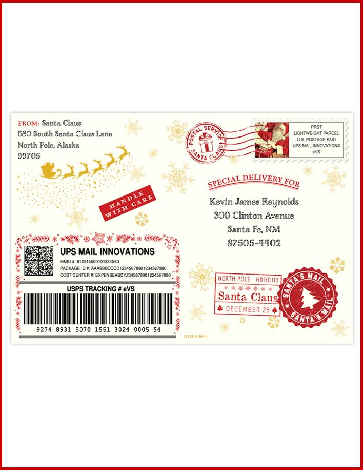 Santa's Letter Envelope